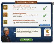 Quest Rebuilding the Bridge 6-Tasks