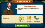 Quest For the Birds 3-Rewards