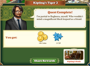 Quest Kipling's Tiger 3-Rewards