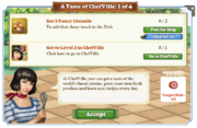 Quest A Taste of ChefVille 1-Tasks