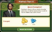 Quest Kipling's Tiger 11-Rewards