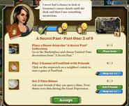 A secret past - Part One 2 of 9 Quests