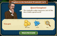 Quest Explore to the Secluded Windmill 3-Rewards