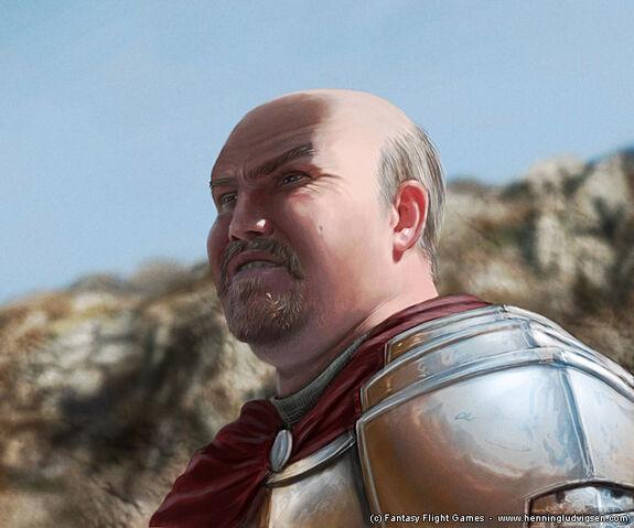 Archivo:Ser Boros Blount by Henning Ludvigsen, Fantasy Flight Games©.jpg