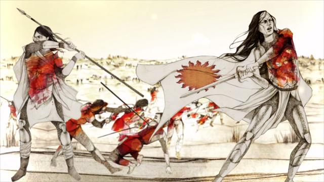 Archivo:Mors Martell y Nymeria en batalla HBO.png