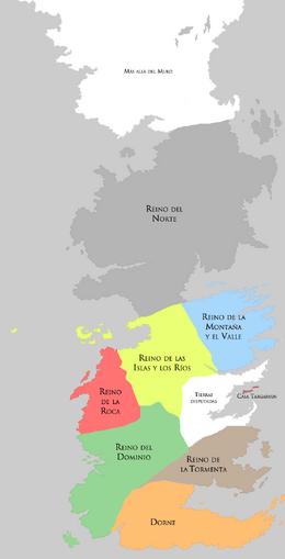 Siete Reinos pre Guerra de la Conquista