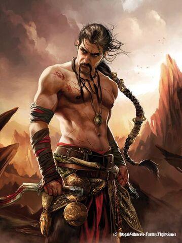 Archivo:Khal Drogo by Magali Villeneuve, Fantasy Flight Games©.jpg
