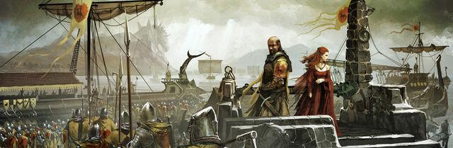 Archivo:Stannis en Rocadragón by Tomasz Jedruzek, FFG©.jpg