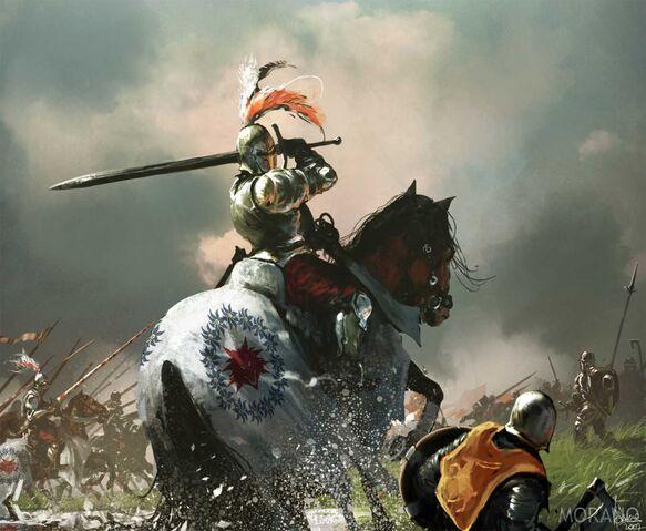 Archivo:Brightwater Keep cavalry by Tomasz Jedruzek, Fantasy Flight Games©.jpg