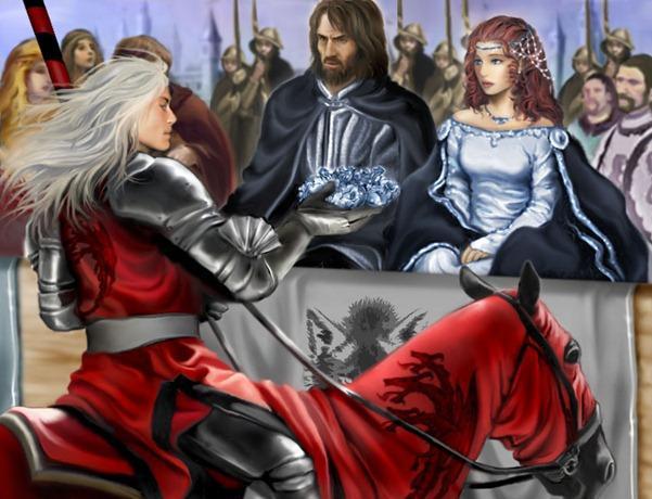 Archivo:Rhaegar coronando a Lyanna Stark by M. Luisa Giliberti©.jpg