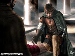 Davos jura lealtad a Stannis by Amoka©