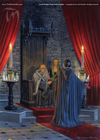 Archivo:Lord Walder Frey and Catelyn by Ted Nasmith©.jpg