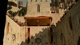 Rey Joffrey en el torneo por su día del nombre HBO