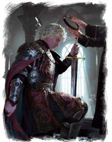 Archivo:Aegon the Conqueror crowned by the High Septon by Michael Komarck©.png