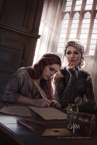 Archivo:Sansa y Cersei by Magali Villeneuve©.png
