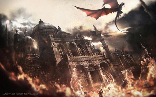 Archivo:The burning of the Sept of Remembrance by Jordi González©.jpg