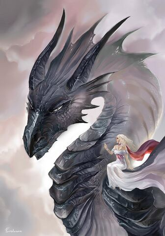 Archivo:Daenerys and Drogon by Evolvana©.jpg