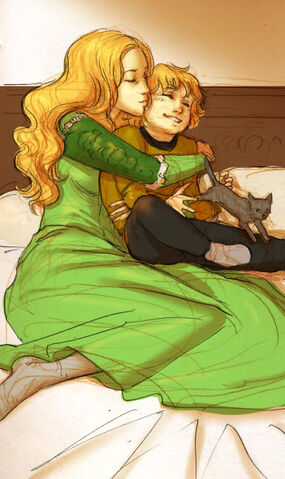 Archivo:Cersei and Tommen by Elisa Poggese©.jpg