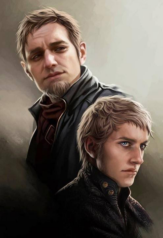 Archivo:Tytos and Tywin Lannister by Magali Villeneuve©.png