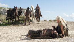 Drogo caído HBO