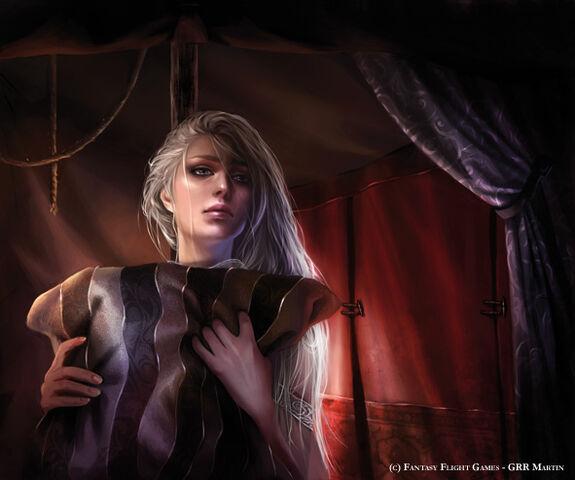 Archivo:Daenerys Targaryen (2) by Magali Villeneuve, Fantasy Flight Games©.jpg