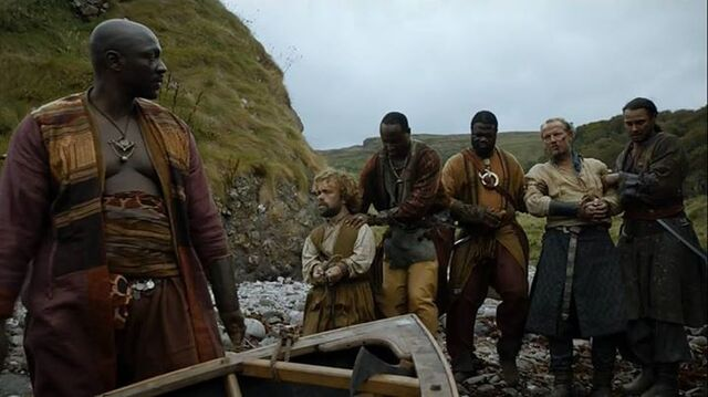 Archivo:Tyrion y Jorah capturados HBO.jpg