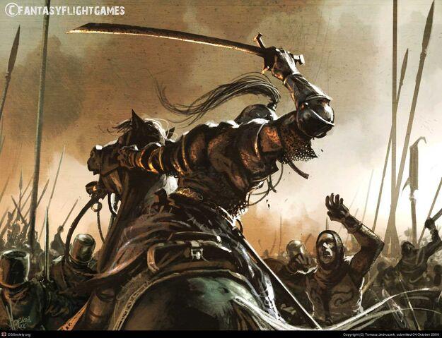 Archivo:A bloodrider by Tomasz Jedruzek, Fantasy Flight Games©.jpg