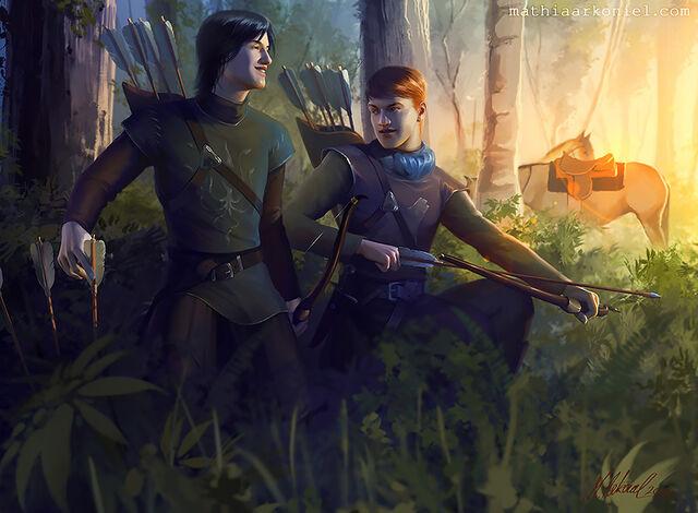 Archivo:Robb and Theon by Mathia Arkoniel©.jpg