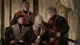 King Aegon the Unlikely and his sons by Karla Ortiz©
