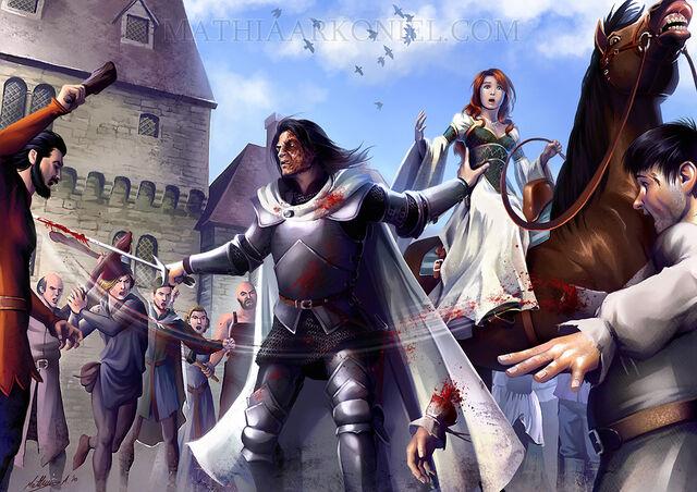 Archivo:Sandor and Sansa by Mathia Arkoniel©.jpg