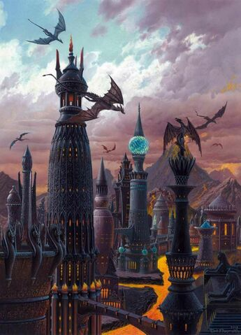 Archivo:The Towers of Valyria by Ted Nasmith©.jpg