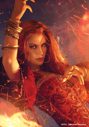 Archivo:Melisandre by Michael Komarck, Fantasy Flight Games©.png