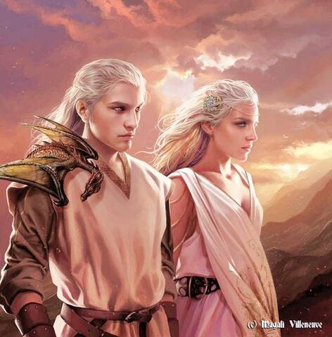 Archivo:Valyrian Couple by Magali Villeneuve©.jpg