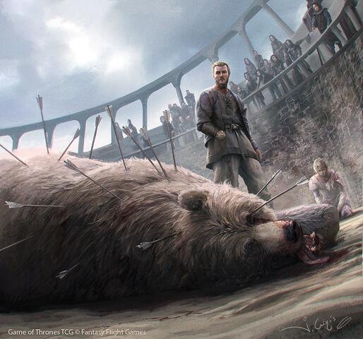 Archivo:Jaime Lannister and Brienne of Tarth by Joshua Cairós, Fantasy Flight Games©.jpg