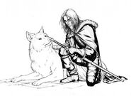 Jon and Ghost by Mike S. Miller©