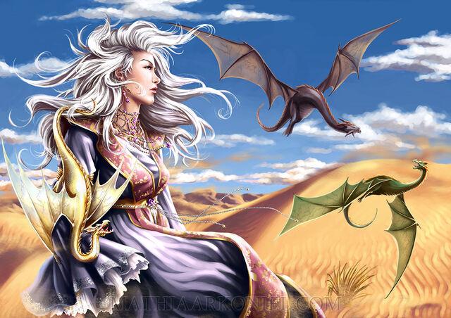 Archivo:Daenerys Targaryen by Mathia Arkoniel©.jpg