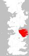 Mapa Valle de Arryn extensión