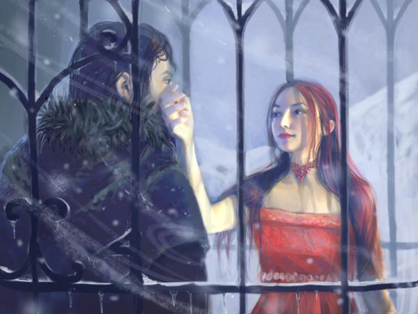 Archivo:Jon Snow & Mel by Katherine Dinger, Fantasy Flight Games©.jpg