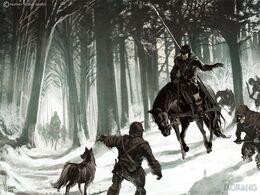 Wolf Woold Hunters by Tomasz Jedruzek, Fantasy Flight Games©