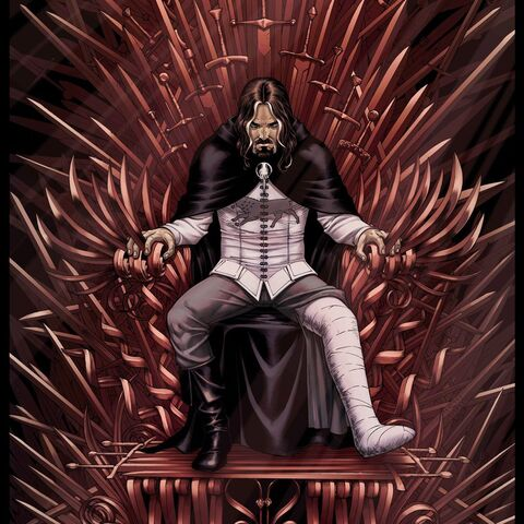 Archivo:Ned in the Iron Throne by Mike S. Miller©.jpg