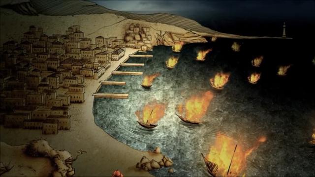Archivo:Nymeria quema sus barcos HBO.png