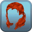 WINDBLOWN HALF-DO (RED)