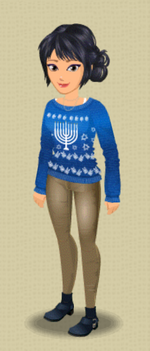 FEMALE OUTFIT (STARLIGHT SWEATER)