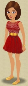 Ruby Red Sparkle Dress