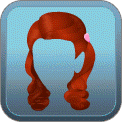 CURLY HALF-UP HALF-DOWN (RED)
