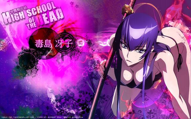 File:Konachan-com-102525-busujima saeko-cleavage-highschool of the dead-purple hair-signed.jpg