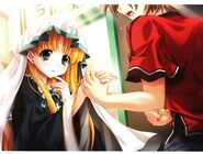 """Asia, I will become your friend. No, we are already friends."""" – Issei holding Asia's hand (Textless)"""