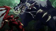 Issei and Koneko battling it out against Fenrir