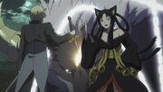 Arthur uses Excalibur Ruler on Fenrir