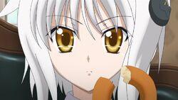 Koneko eating donut